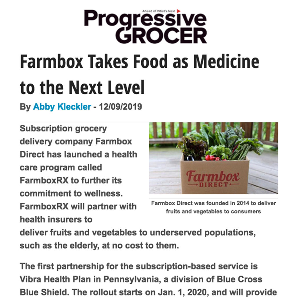 Farmbox Harlows Harvest Progressive Grocer